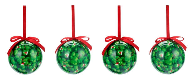 4 sprouts decoupage balls