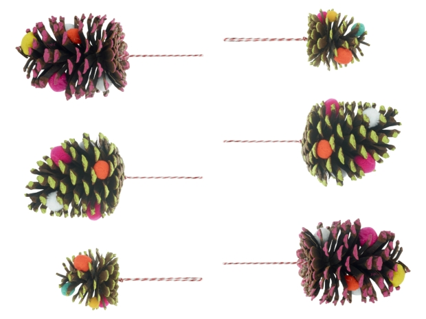 6 hanging acorns