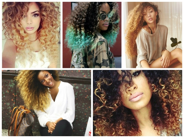 Ombre hairstyles collage