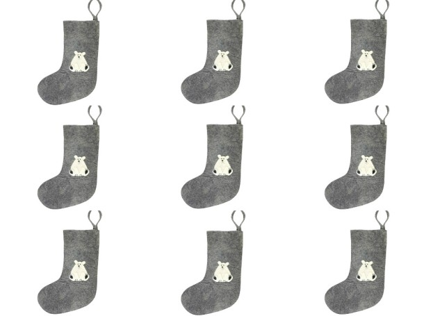 9 Polar bear stockings