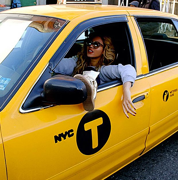 Beyonce driving 1