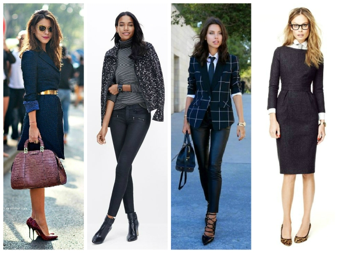 Power dressing collage